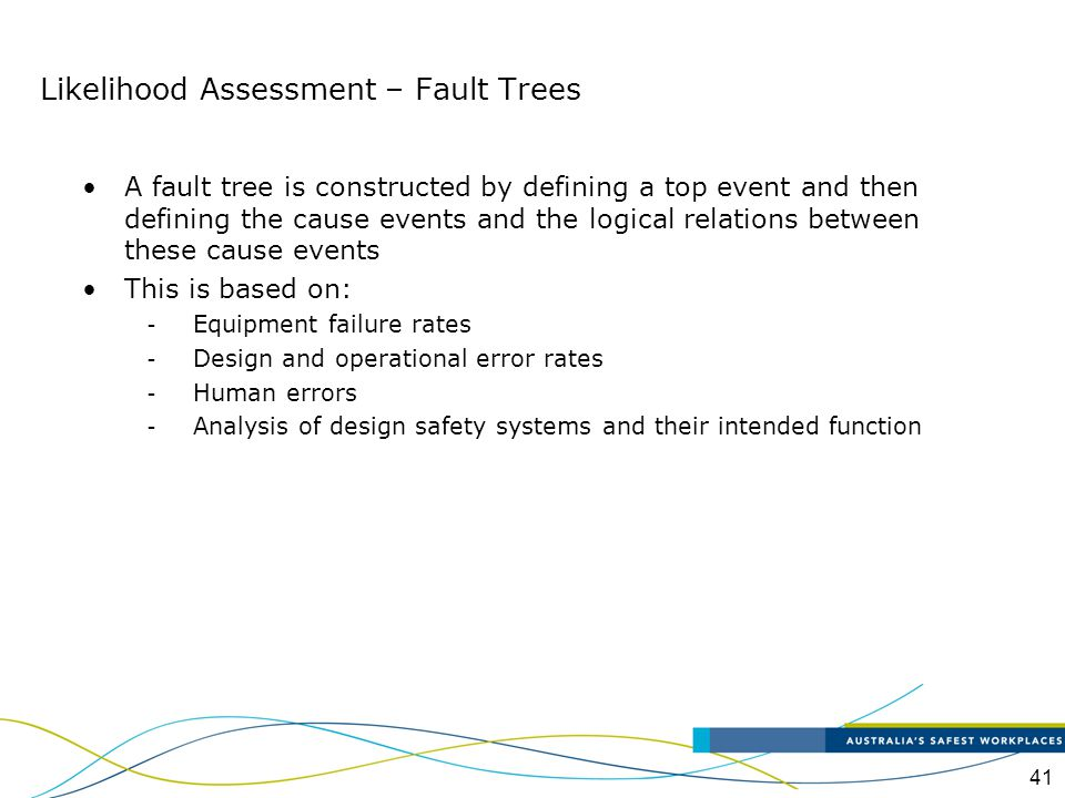 Likelihood Assessment – Fault Trees