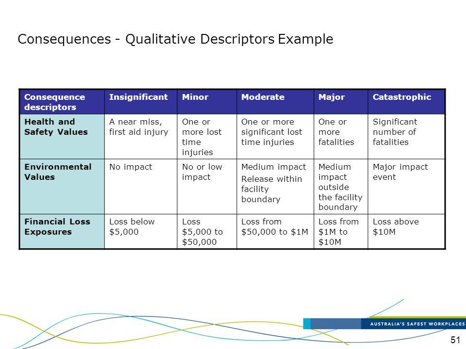 Consequences - Qualitative Descriptors Example