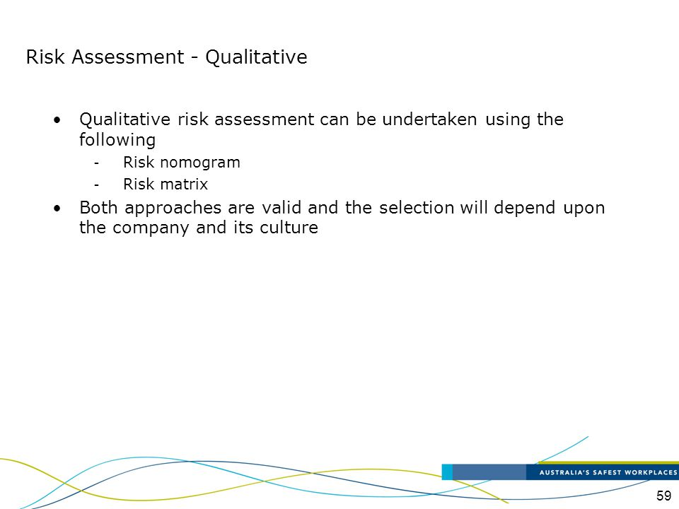 Risk Assessment - Qualitative