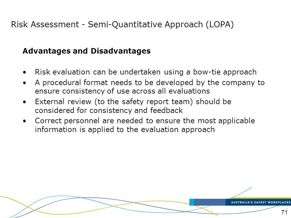 Risk Assessment - Semi-Quantitative Approach (LOPA)