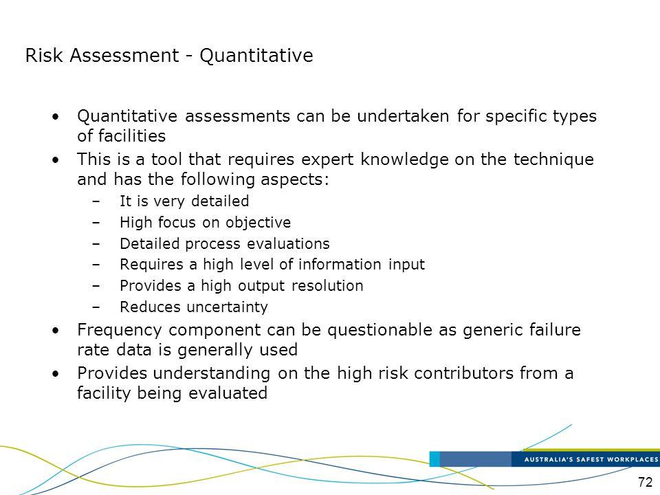 Risk Assessment - Quantitative