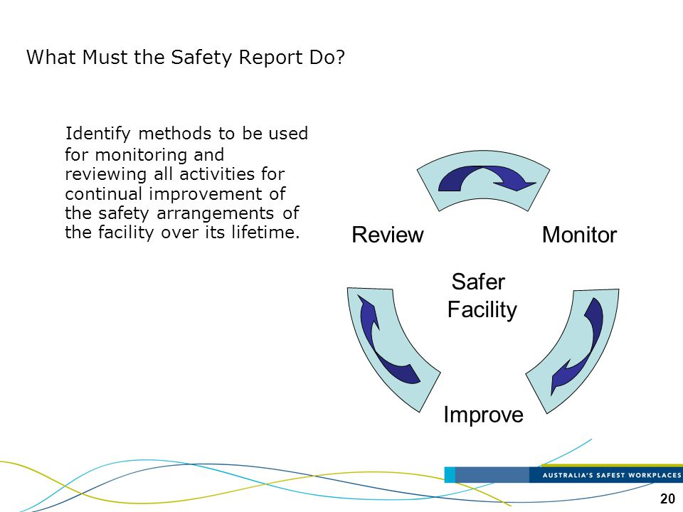 What Must the Safety Report Do