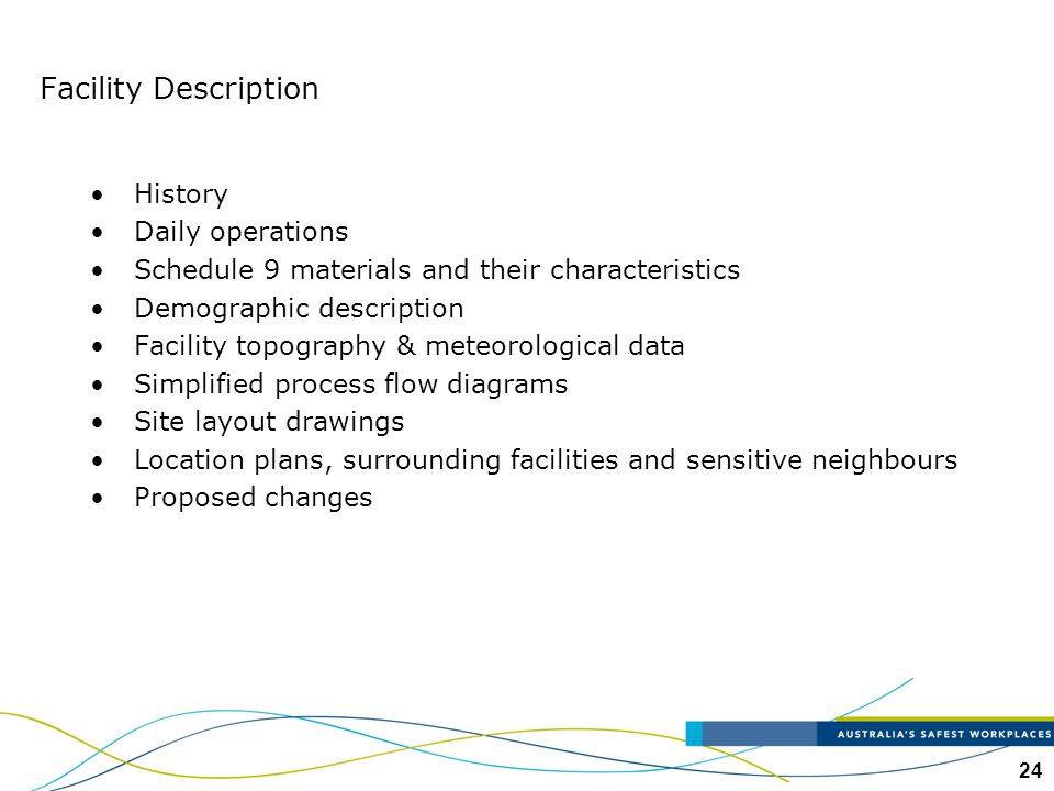 Facility Description History Daily operations