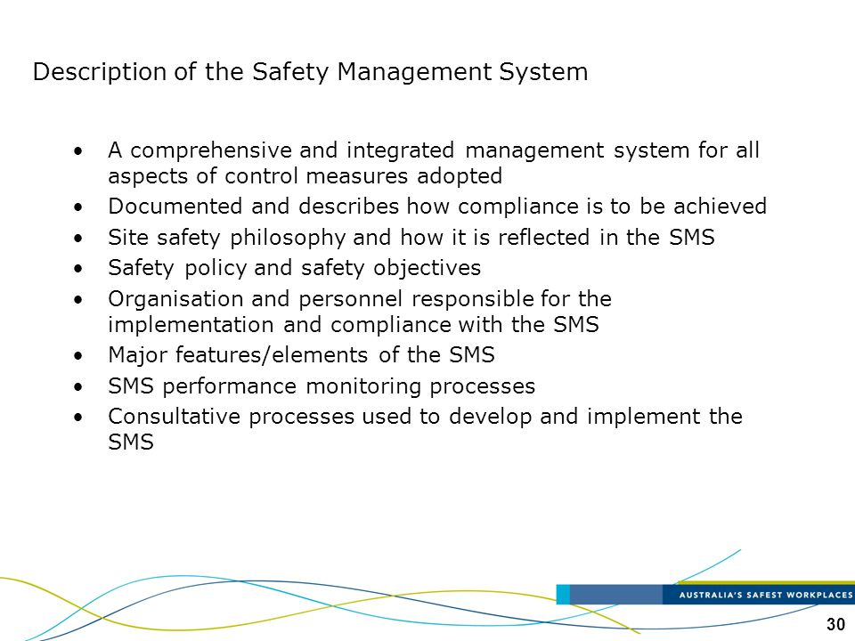 Description of the Safety Management System
