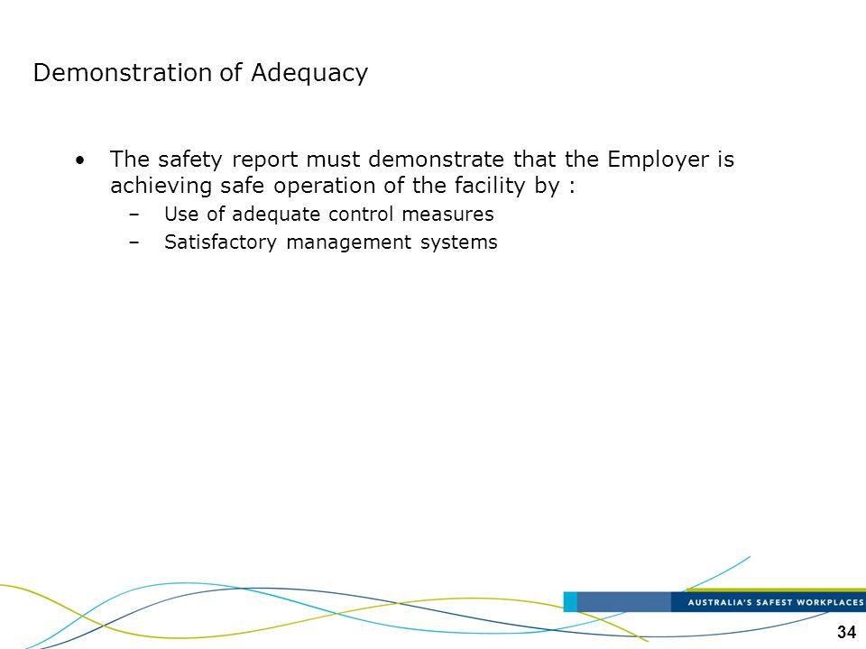 Demonstration of Adequacy