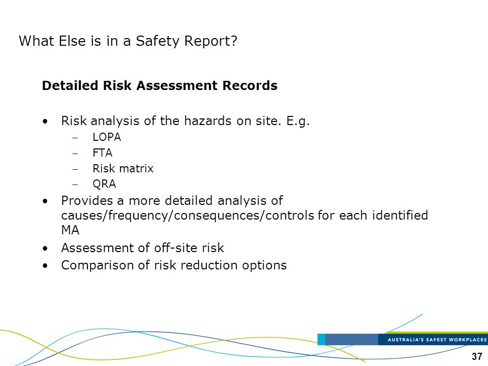 What Else is in a Safety Report