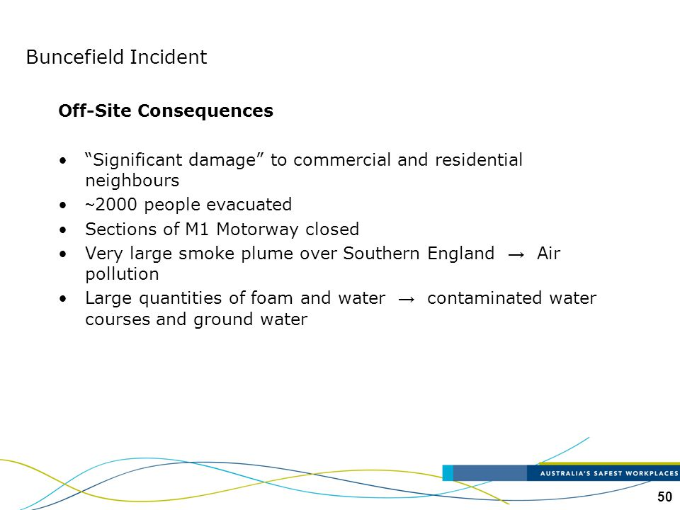 Buncefield Incident Off-Site Consequences