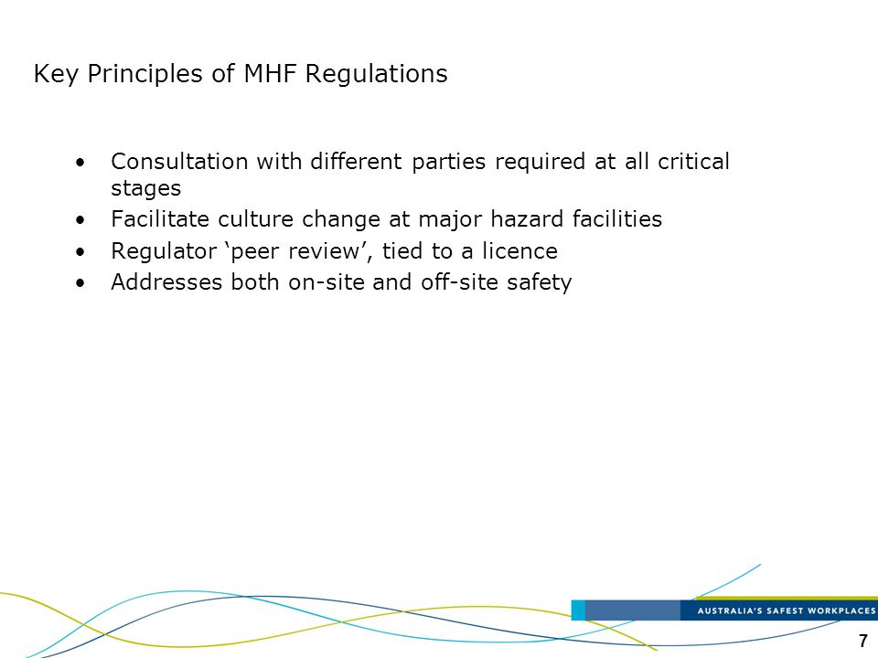 Key Principles of MHF Regulations