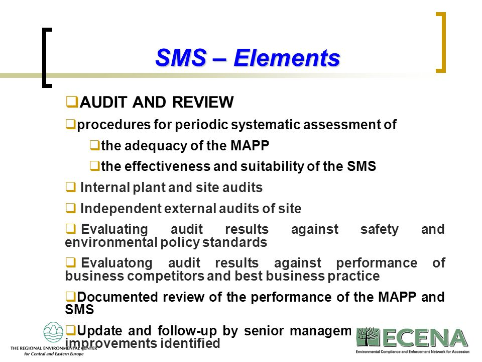 SMS – Elements AUDIT AND REVIEW
