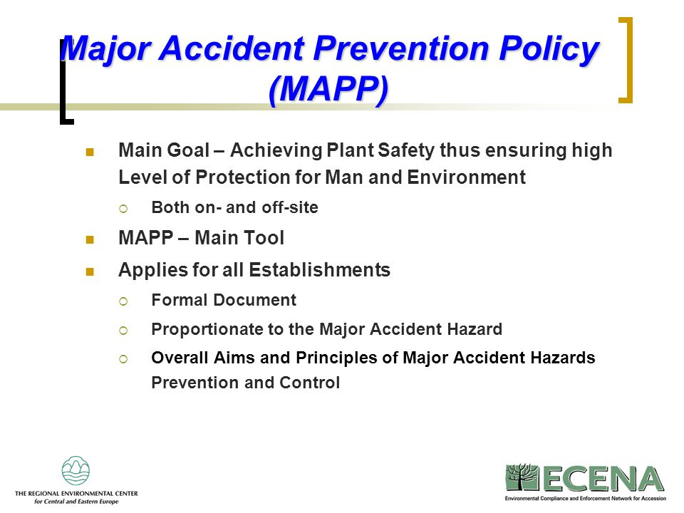 Major Accident Prevention Policy (MAPP)