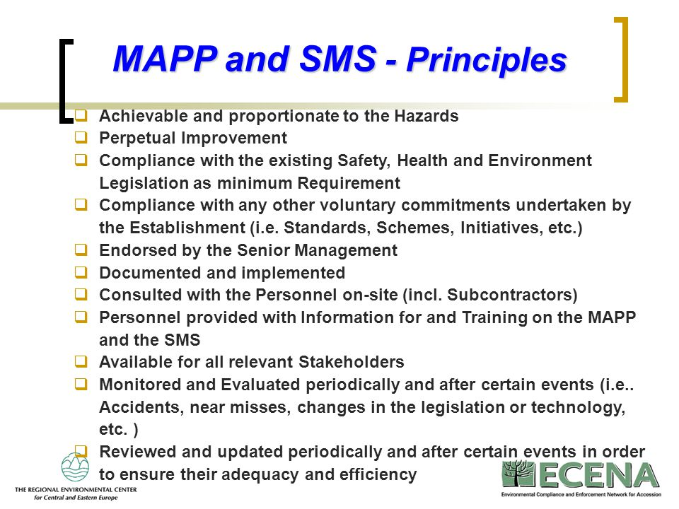 MAPP and SMS - Principles