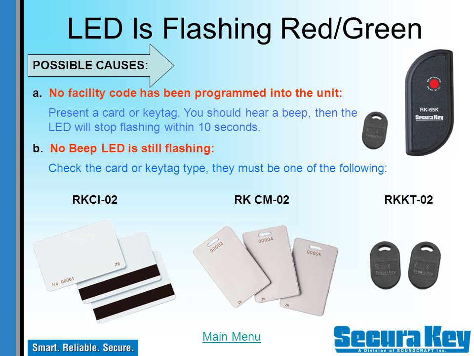 LED Is Flashing Red/Green
