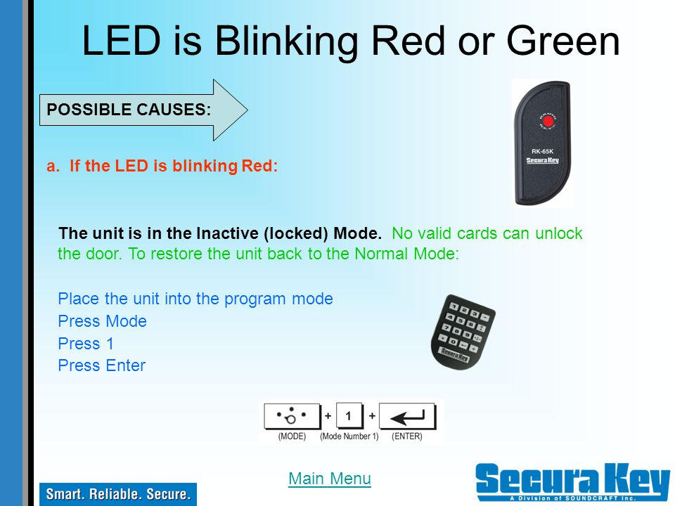 LED is Blinking Red or Green