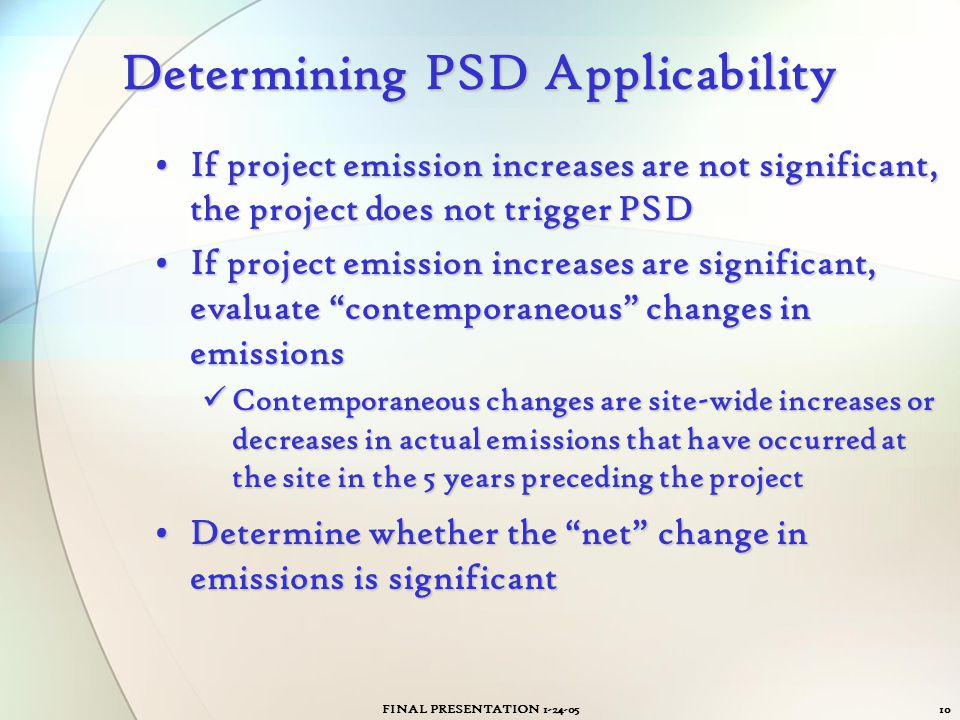 Determining PSD Applicability