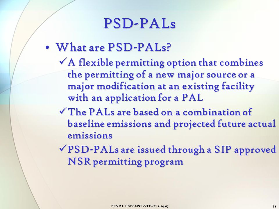 PSD-PALs What are PSD-PALs