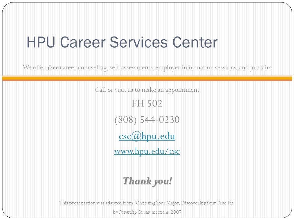 HPU Career Services Center