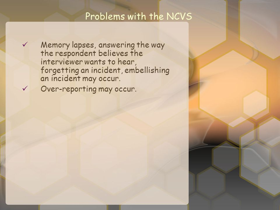 Problems with the NCVS