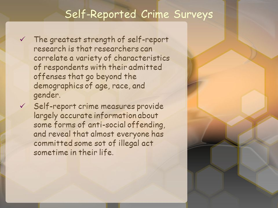 Self-Reported Crime Surveys