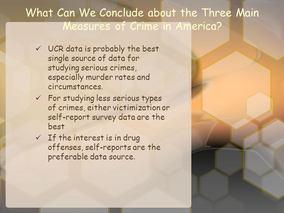 What Can We Conclude about the Three Main Measures of Crime in America