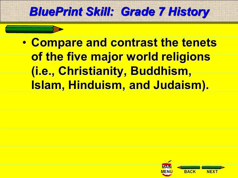 BluePrint Skill: Grade 7 History