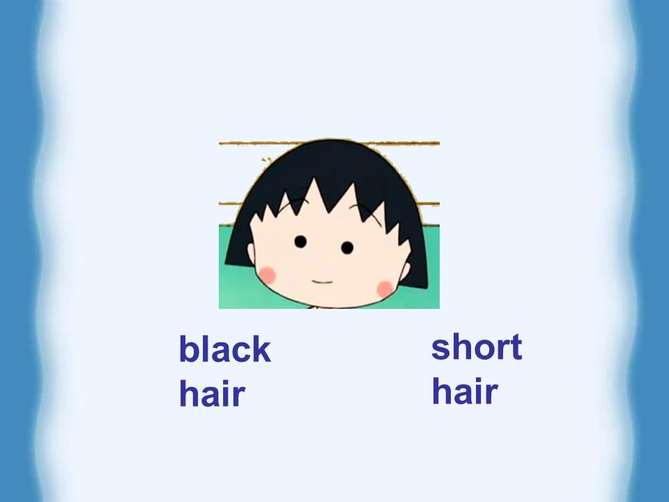 black hair short hair