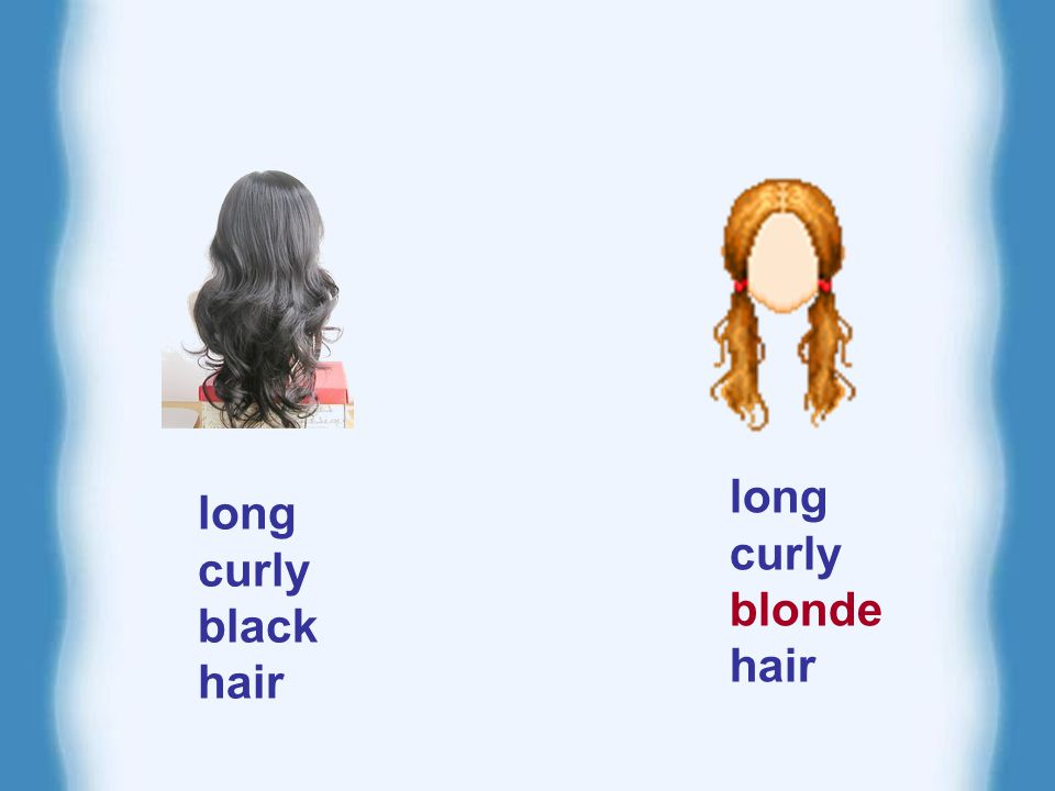 long curly blonde hair long curly black hair
