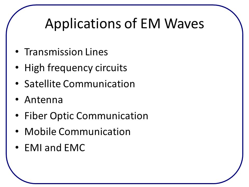 Applications of EM Waves
