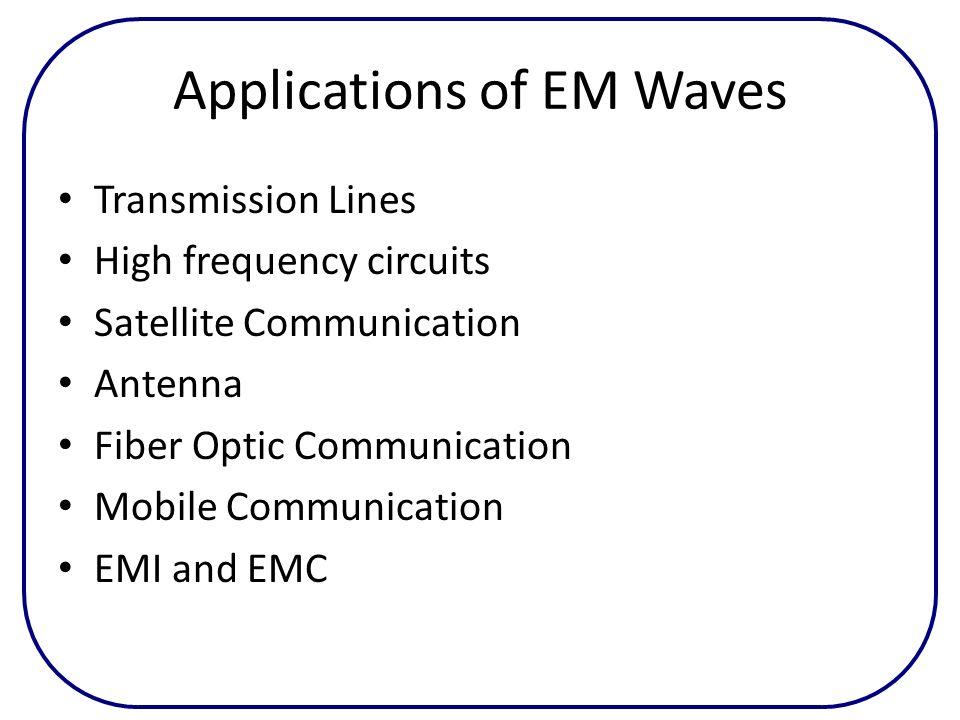 Applications of EM Waves