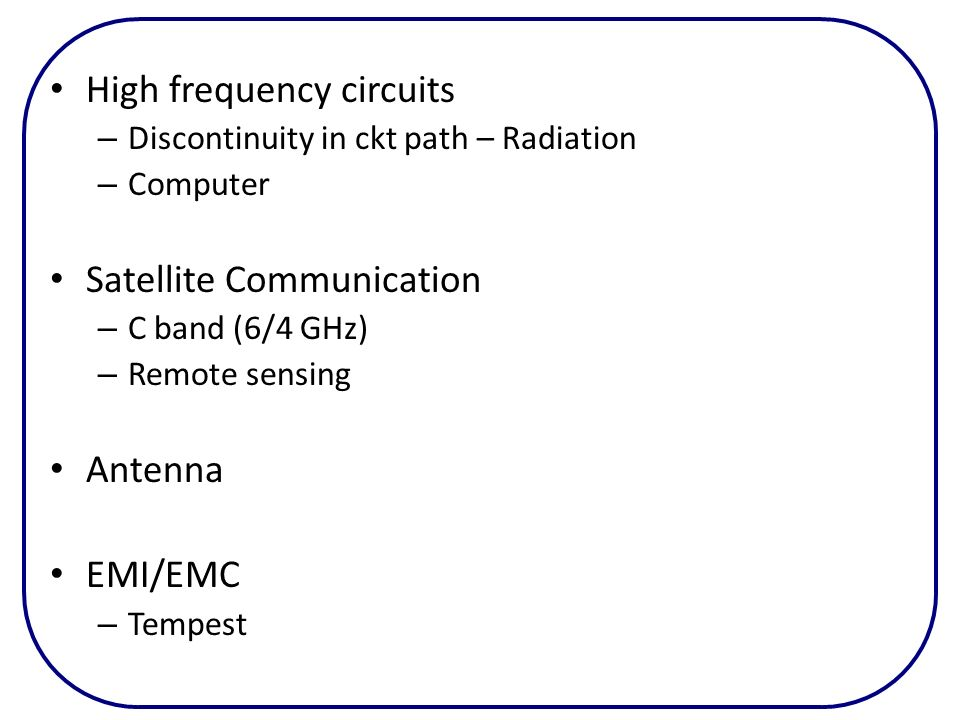 High frequency circuits