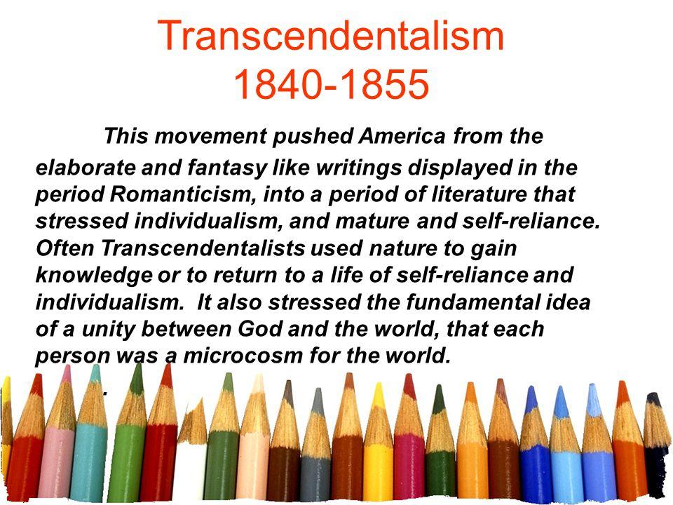 Transcendentalism 1840-1855