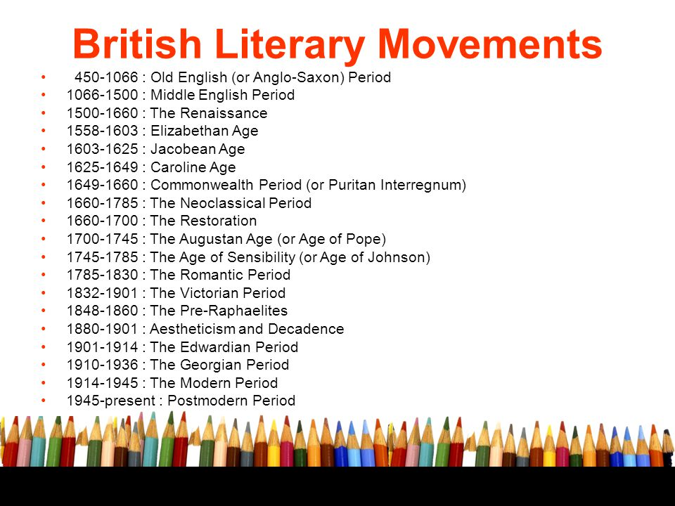 British Literary Movements