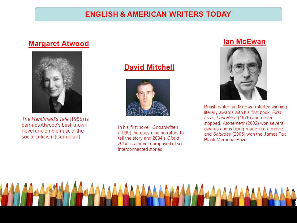 ENGLISH & AMERICAN WRITERS TODAY