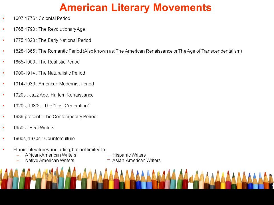 major literary movements ppt download