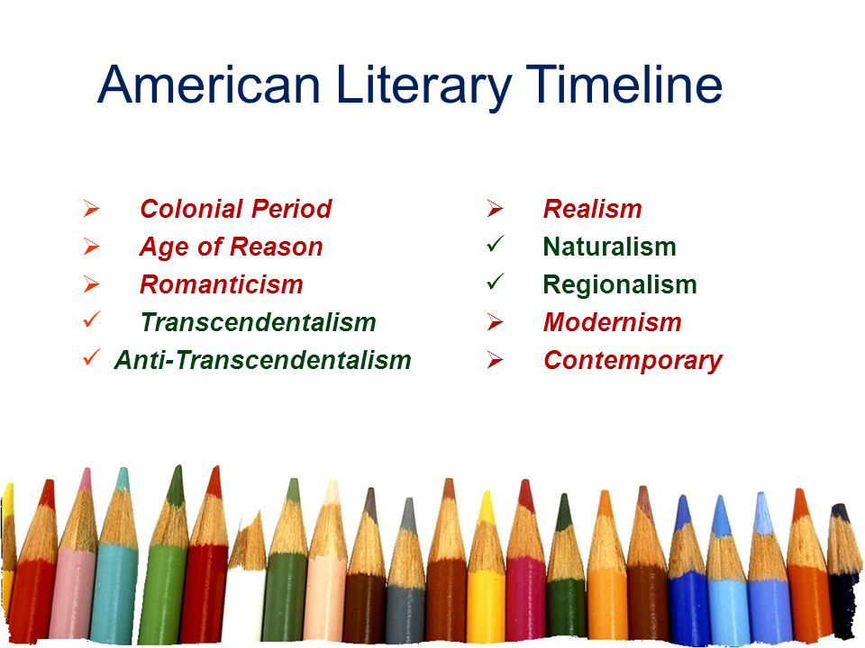 American Literary Timeline