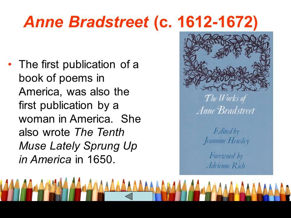 Anne Bradstreet (c. 1612-1672)