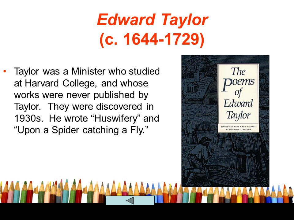 Edward Taylor (c. 1644-1729)