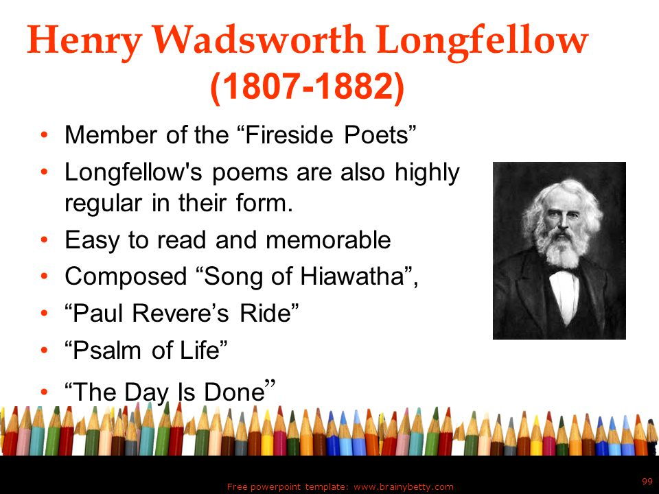 Henry Wadsworth Longfellow (1807-1882)