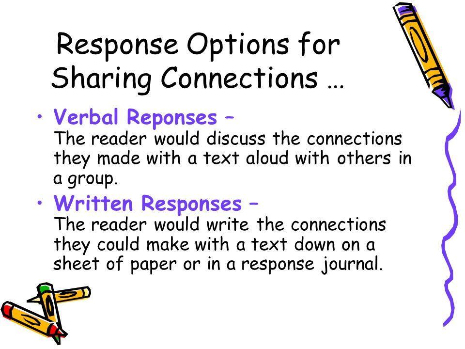 Response Options for Sharing Connections …