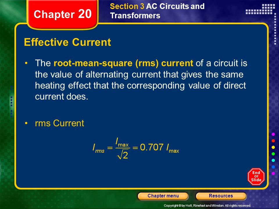 Chapter 20 Effective Current