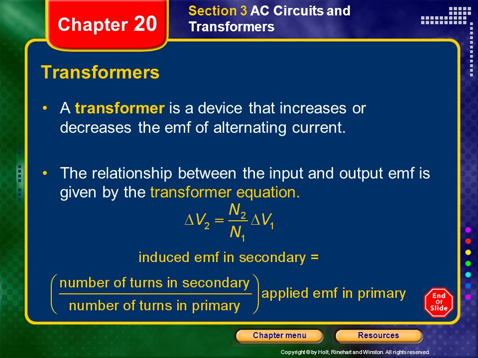 Section 3 AC Circuits and Transformers