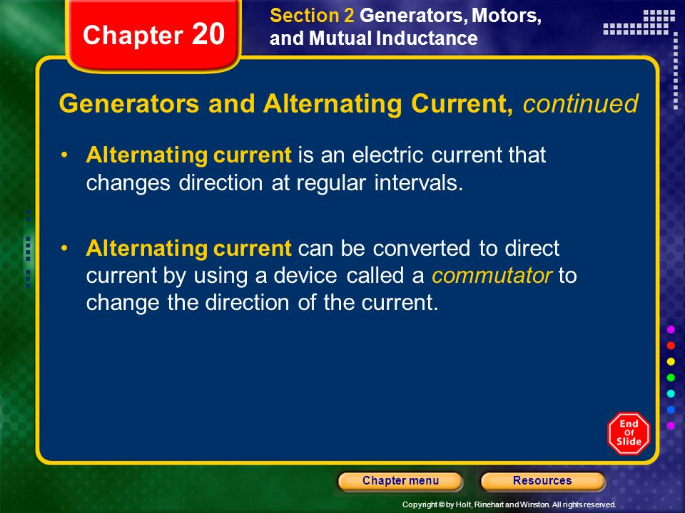 Generators and Alternating Current, continued
