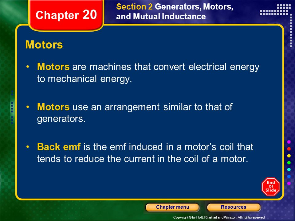 Section 2 Generators, Motors, and Mutual Inductance