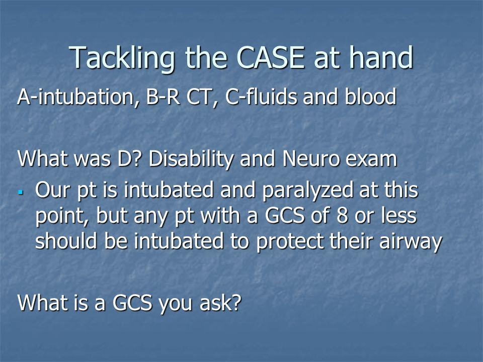 Tackling the CASE at hand