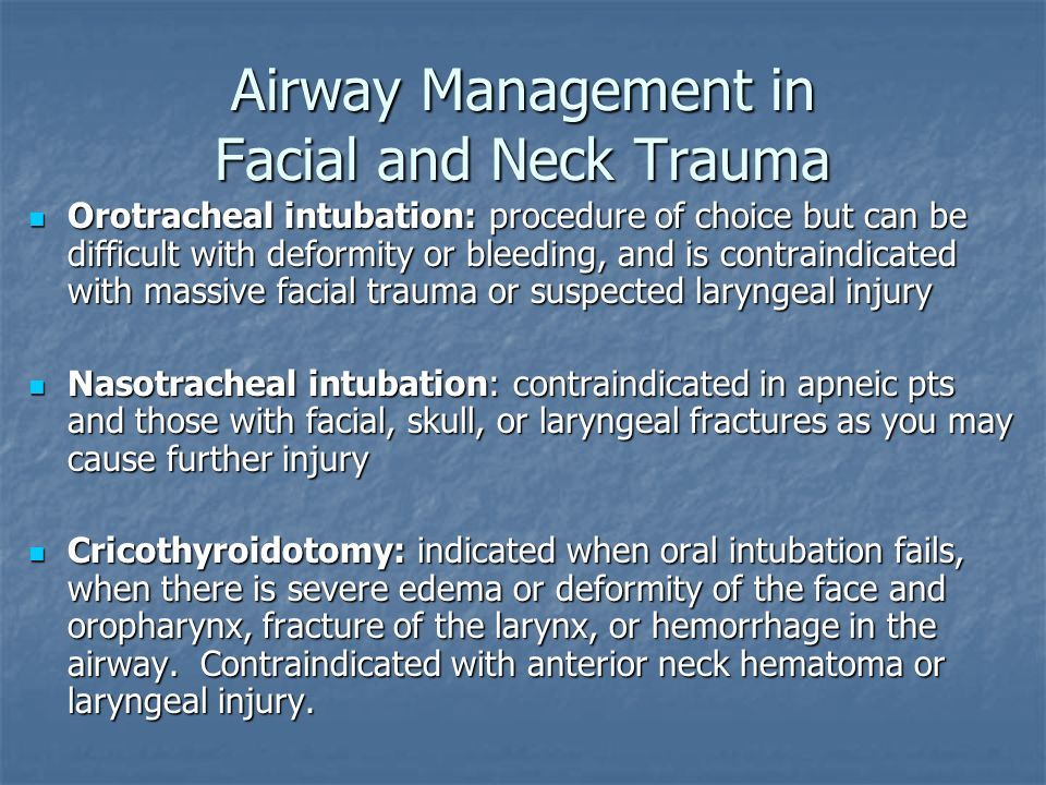 Airway Management in Facial and Neck Trauma