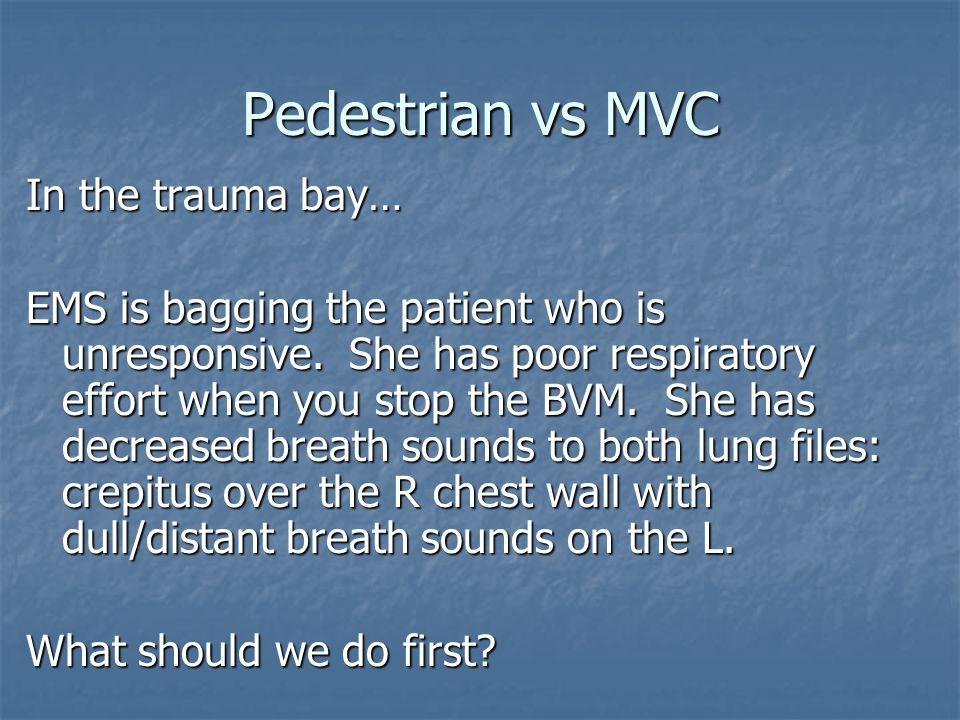 Pedestrian vs MVC In the trauma bay…