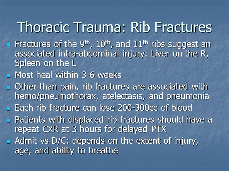 Thoracic Trauma: Rib Fractures
