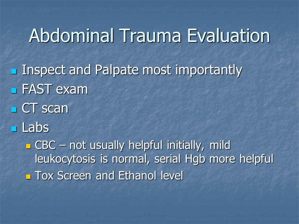 Abdominal Trauma Evaluation