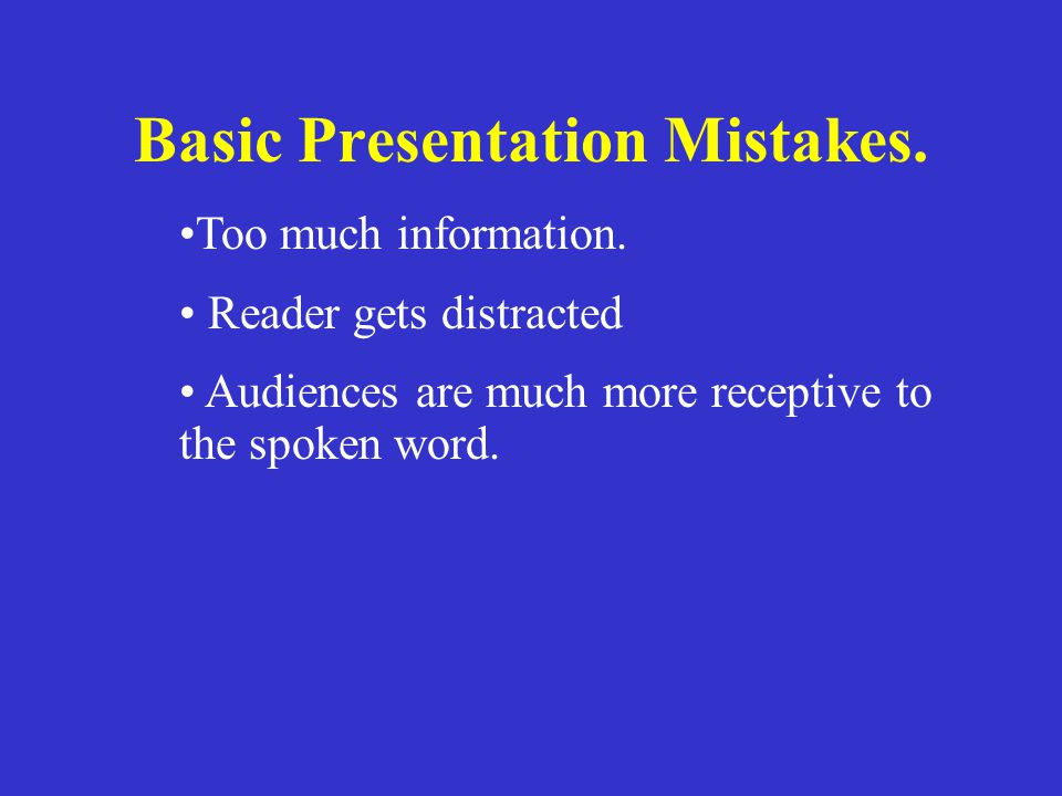 Basic Presentation Mistakes.