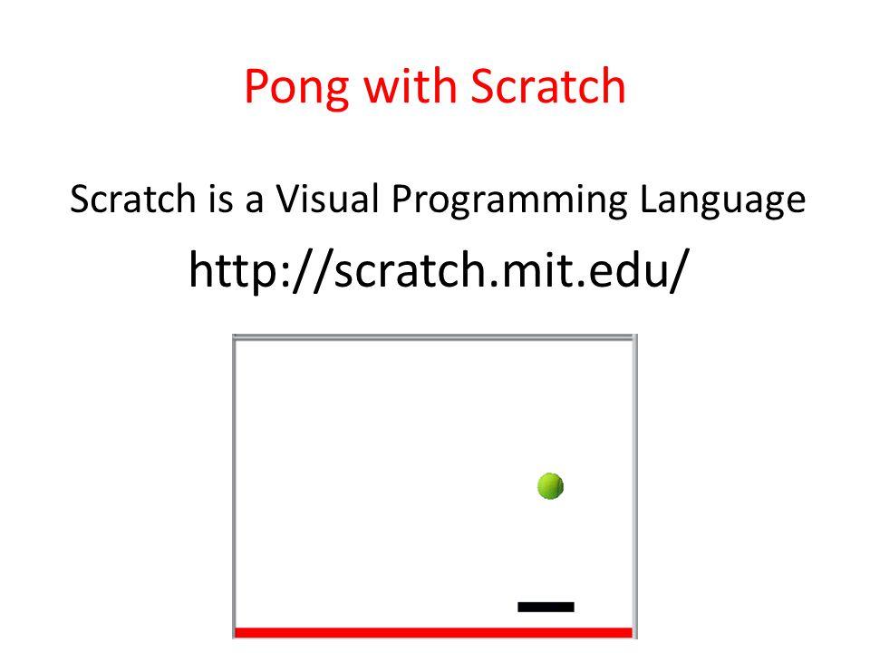 Scratch is a Visual Programming Language http://scratch.mit.edu/