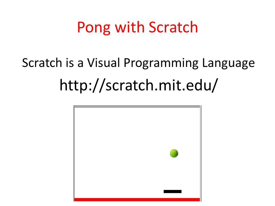 Scratch is a Visual Programming Language